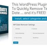 Free WP Plugin Allows You To Quickly Remove Time And Date